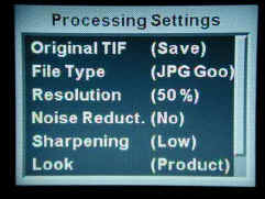 Processing Settings